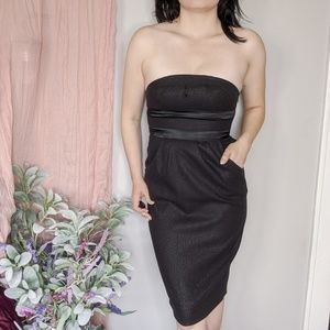 Diane von Furstenberg black strapless dress 0413